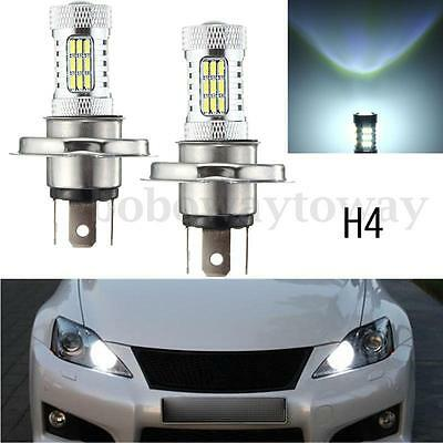 2x H4 HID LED Xénon 4014 SMD Hi/Lo Beam DRL Light Lampe Diurne Ampoule 6000K NEW