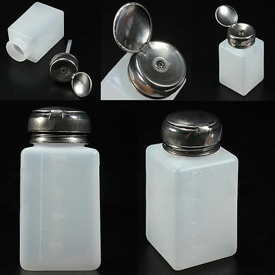 200ML  Empty Pump Dispenser For Nail Art Polish Acrylic Liquid Bottle Portable