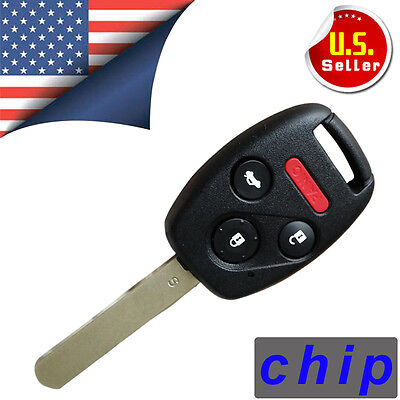 Uncut Ignition Keyless Entry Remote Key Fob Replacement For Honda OUCG8D-380H-A