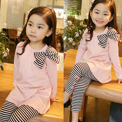 Kids Baby Girls Toddler Long Sleeve T-Shirt + Leggings Pants Set Clothes Outfits