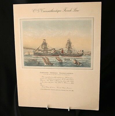 FRENCH LINE SS DE GRASSE Autographed Dinner Menu 1947
