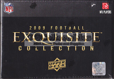 2009 Upper Deck Exquisite Collection Football Nfl Factory Sealed Hobby Box New!!