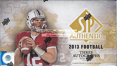 2013 Upper Deck Sp Authentic Football Gridiron Nfl Factory Sealed Hobby Box New!