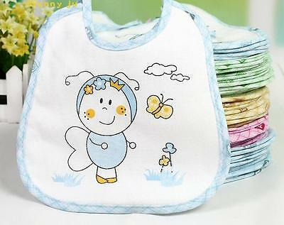 10pcs/Lot Baby Boy Girl Newborn Kids Bibs Waterproof Saliva Towel Bib Burp Cloth