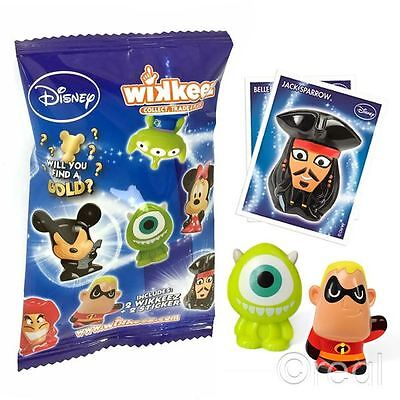 New 1/3/5/10/40 Disney Wikkeez Blind Bags Series 1 Figures & Stickers Official