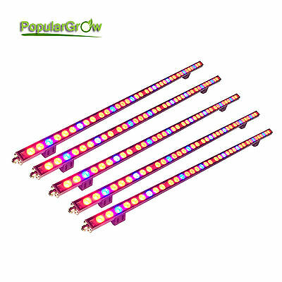 5PCs Waterproof 108W LED Grow Light Bar Strip Red Blue Indoor Hydroponcs Plants