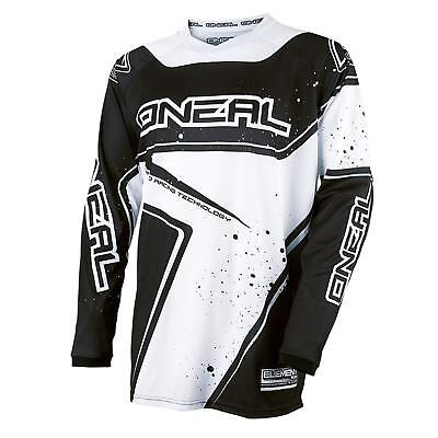 O'Neal Element Racewear Jersey Schwarz Weiß DH Downhill FR MTB BMX Mountain Bike