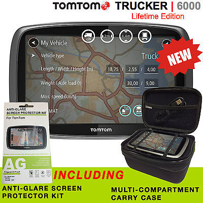 TomTom Trucker 6000 Lifetime Edition - INCLUDES MAPS, LIVE TRAFFIC & CAMERAS