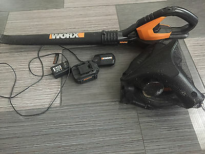 Worx Wg575.1 32V Leaf Blower With Battery, Charger & All Attachments Included