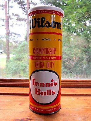 Vintage New Sealed Wilson Optic Yellow Extra Duty Championship Tennis Balls Can