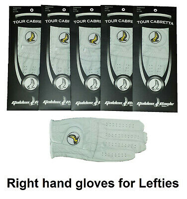 New 4 Pack 100% Cabretta Leather Golden Eagle Golf Glove Lady Right Hand Small
