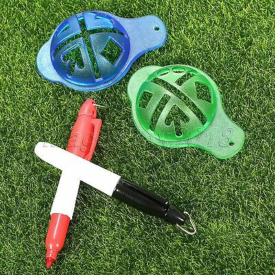 Golf Ball Line Linear Marker Template Drawing Alignment Tool With Draw Marks Pen