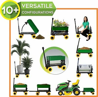 Plus One Sports Carts for the Beach Trolley Dolly Kart Flatbed 4 Wheel Wagon DIY