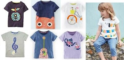 Mini Boden girls' applique t-shirts new ages 1 - 12 years summer top