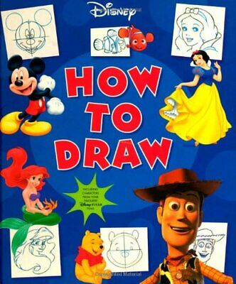 Disney How To Draw (Disney Learning S.) by Disney Hardback Book The Cheap Fast