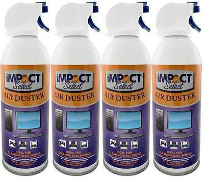 Canned Air Duster Compressed Canned Air Spray Keyboard Computer TV Dust Off 4 pk