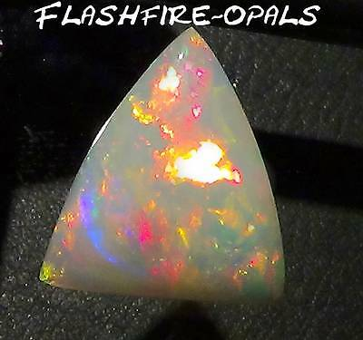 7,0 Ct! Brillianter Gem Welo Opal Pyramide  Rot-Gold_Grün Video Flashfire-Opals*