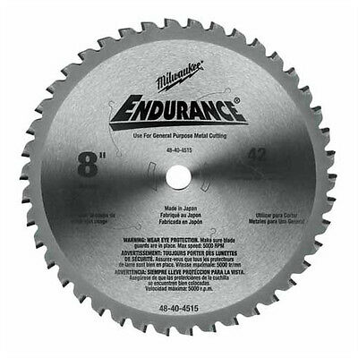 Milwaukee 48-40-4515 8-Inch 42 Tooth Dry Cut Cermet Tipped Metal Cutting Saw Bla
