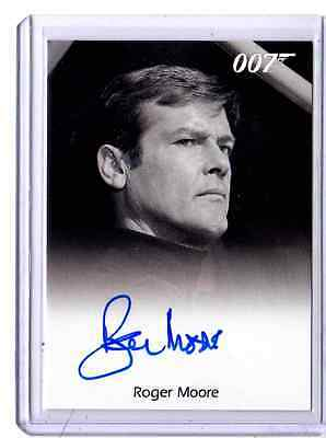 James Bond 50th Anniversary series 2  Roger Moore auto
