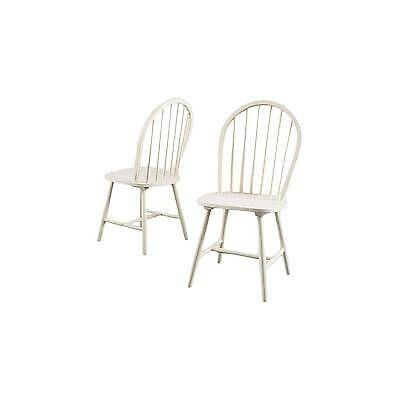 Countryside High Back Spindle Dining Chair Antique White (Set of 2) - Christo...