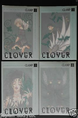 CLAMP Clover manga 1~4 Complete Set japan official book