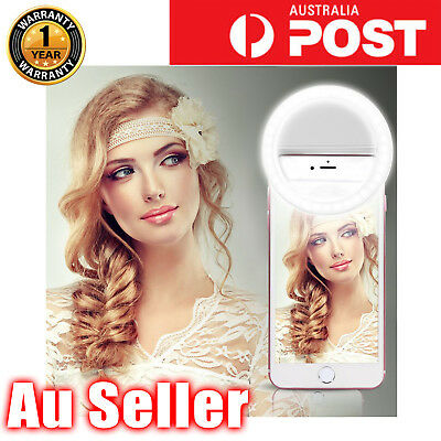 **3 Mode Selfie LED Flash Ring Fill Light Camera Photography For iPhone Samsung*