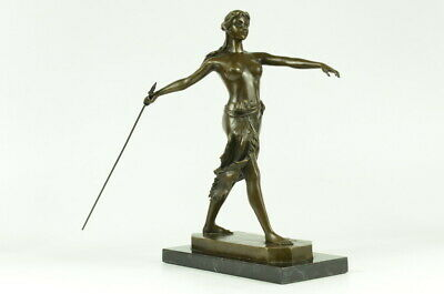 Bronze Sculpture Diana The Huntress Elegant On Art Statue Figurine Figure