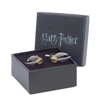Official Warner Bros. Harry Potter Golden Snitch Silver Plated Cufflinks