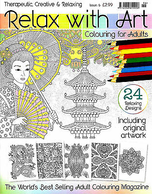 RELAX WITH ART COLOURING __ 3 BOOK SET __ISSUES 7,8 and 3__BRAND NEW__FREEPOST UK