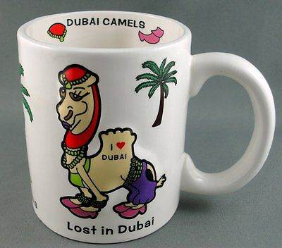 Coffee Mug Dubai Camels Fashionista Middle East 3D Decor 10oz Captions Souvenir