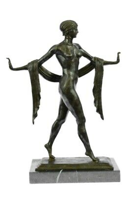Exotic Nude Dancer Art Deco Style Statue Figurine Bronze Sculpture Figure