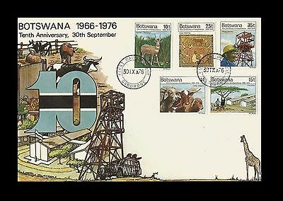 Botswana 1976 The 10th Anniversary of Independence  FDC