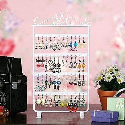 48 Holes Metal Earring Studs Jewelry Show Display Rack Stand Organizer Holder