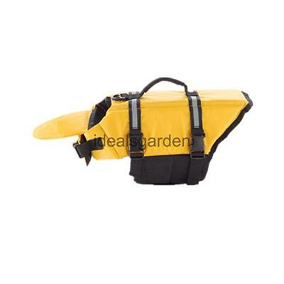 Life Jacket Hand Harness Swimming Saver Preserver For Pet Dog Puppy YellowXS
