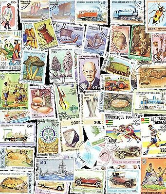 200 All Different TOGO Stamps