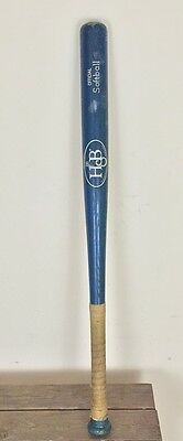 Vintage Hillerich & Bradsby H&B Official Wood Softball Bat 33 1/2 Inches Blue