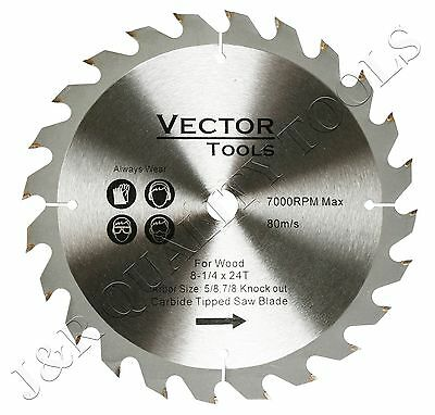 Neiko 8-1/4-In x 24T Carbide Tipped Saw Blades for Wood with 5/8-In Arbor