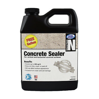 Premium Grade CONCRETE SEALER Water Repellent Protection (Makes 2 Gal - 1 Free!)