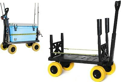 Surf Fishing Cart 4 Wheel Trolley Carts for the Beach Dolly Pull Wagon Plus One