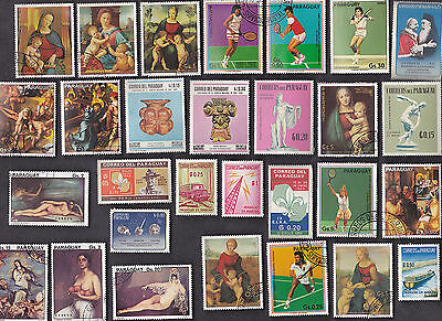 50 All Different PARAGUAY Stamps (J)