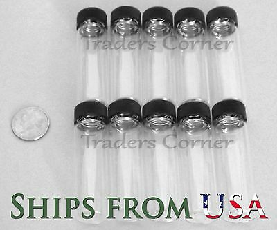 10pc 4 OZ DRAM Gold Prospecting Mineral Placer Gold Glass Vials with Cap
