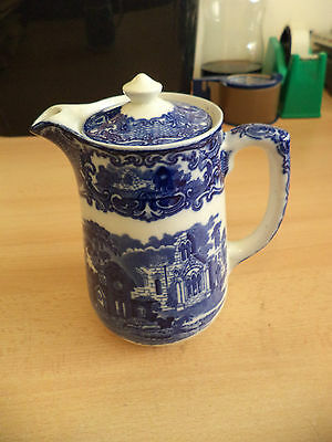 OLD ANTIQUE BLUE & WHITE CHINA GEORGE JONES ABBEY coffee pot tea pot