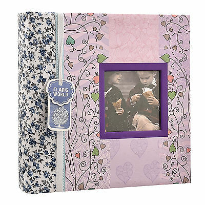 "6""x4"" Designer Photo Album with Window and 200 Slip In Memo Pockets AL-9769"
