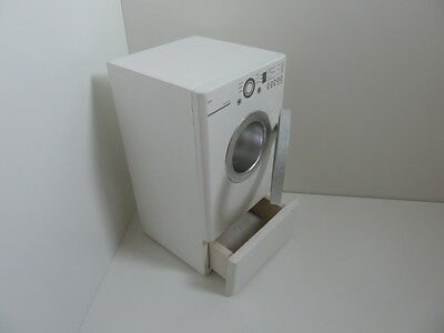 Dolls House Miniature 1:12 Scale Kitchen Wooden White Dryer With Opening Door