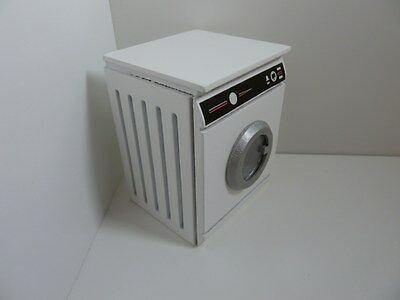 Dolls House Miniature 1:12 Scale Kitchen Wooden White Washer Dryer Non Opening