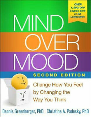 NEW Mind Over Mood By Dennis Greenberger Paperback Free Shipping