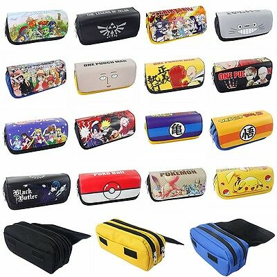 Anime Pen Bag Pencil Case Cosplay Cosmetic Brush Pouch Pattern Travel Purse Hot