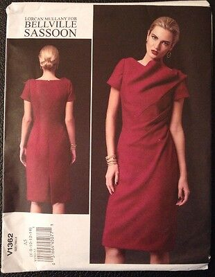 VOGUE BELLVILLE SASSOON LORCAN MULLANY DESIGNER Sewing Pattern V1362 ...