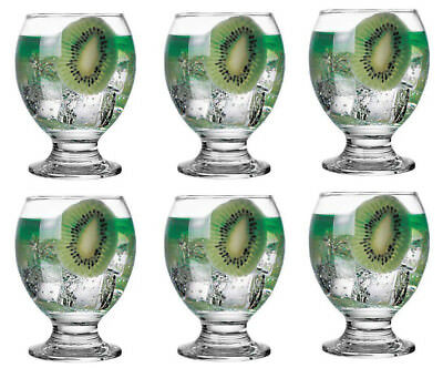 Box of 6 NECTAR red Wine Glasses cocktail drinking glasses spirits juice
