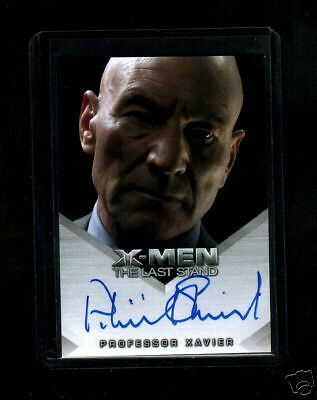 X-Men 3 The Last Stand  Patrick Stewart auto  card